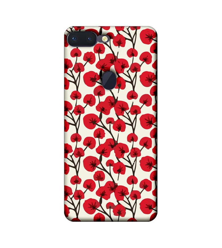 Oppo R15 Pro Mobile Cover Printed Designer Case Red Floral 2