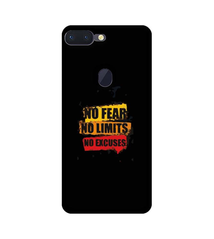 Oppo R15 Pro Mobile Cover Printed Designer Case No Fear No Limits