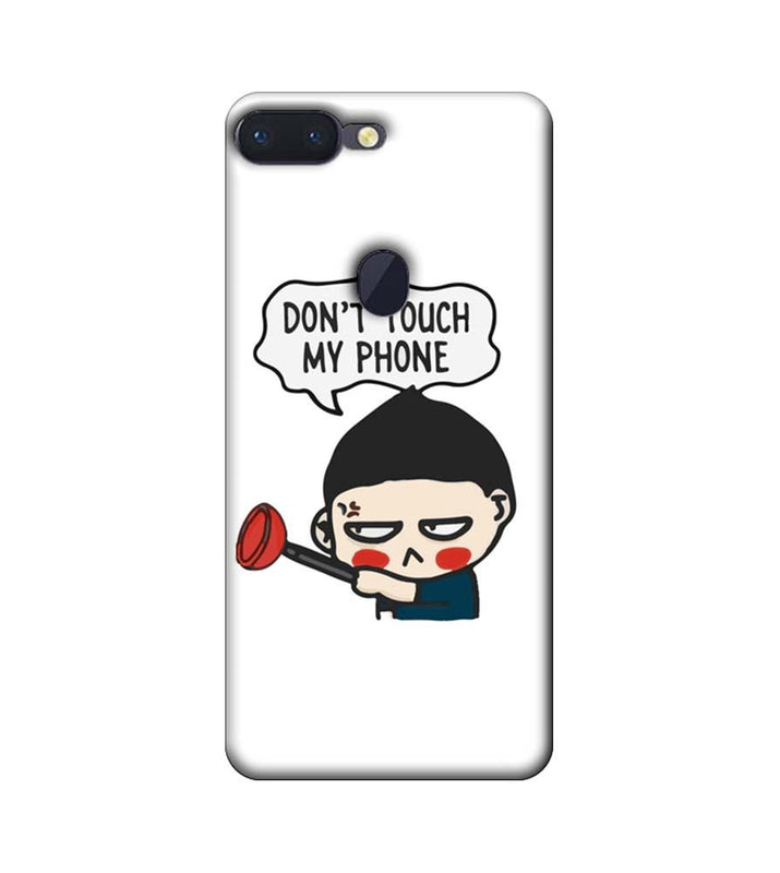 Oppo R15 Pro Mobile Cover Printed Designer Case Don't Touch My Phone 2.0