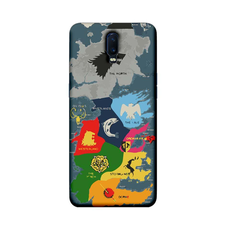 Oppo R17 Mobile Cover Printed Designer Case Game of Throne Map