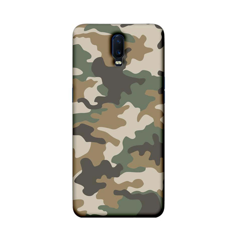 Oppo R17 Mobile Cover Printed Designer Case Military Pattern