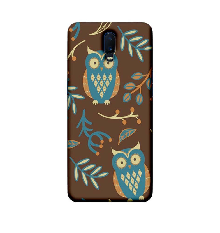 Oppo R17 Mobile Cover Printed Designer Case Indian Art Owl