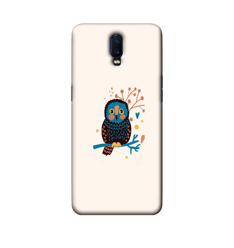 Oppo R17 Mobile Cover Printed Designer Case colourful owl