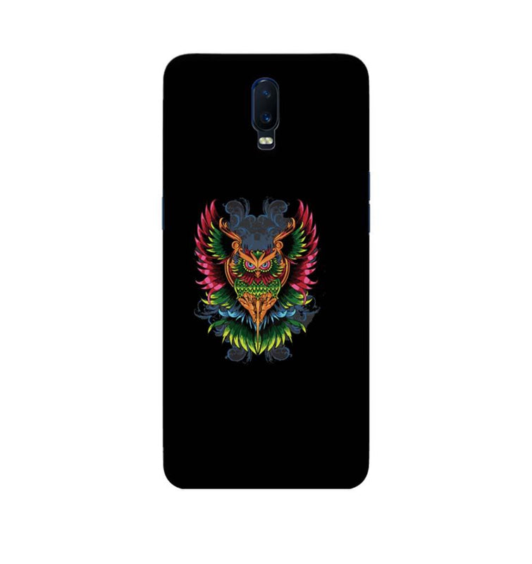 Oppo R17 Mobile Cover Printed Designer Case colourful owl 2.0