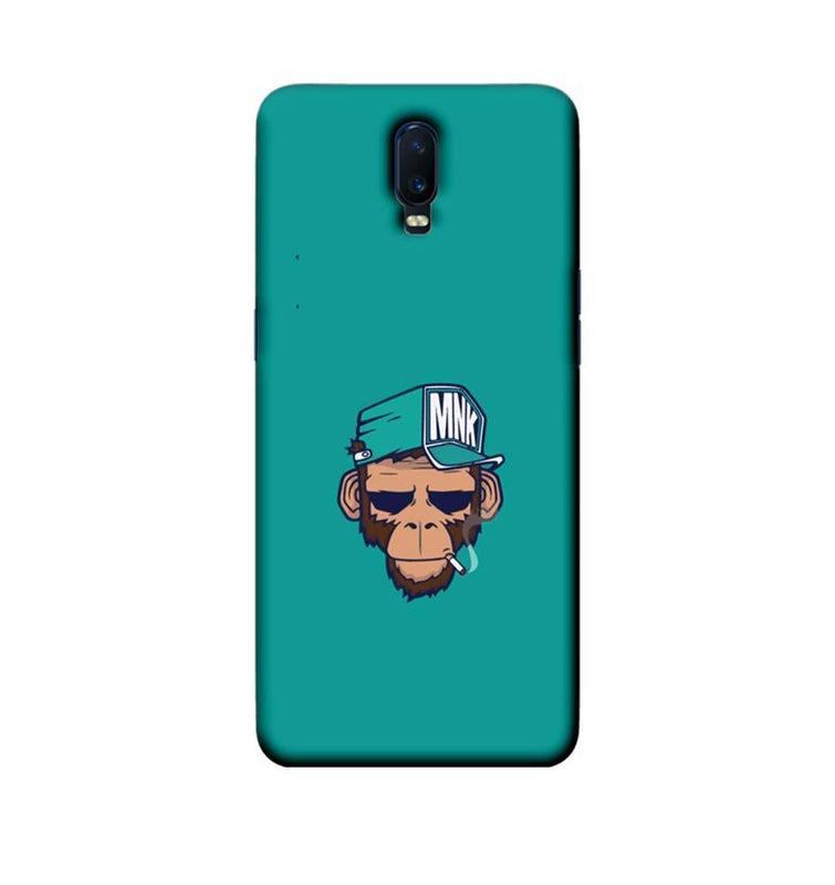Oppo R17 Mobile Cover Printed Designer Case Smoking Monkey
