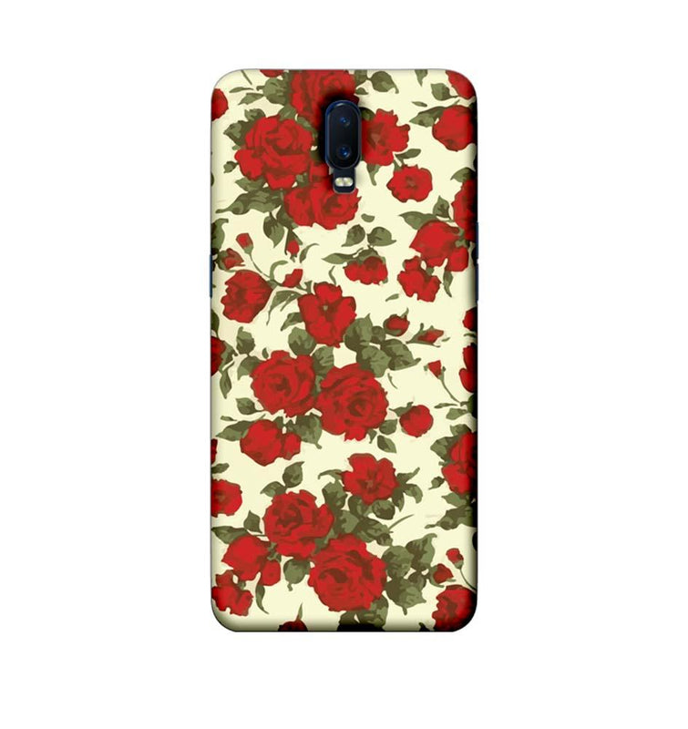 Oppo R17 Mobile Cover Printed Designer Case Red Roses