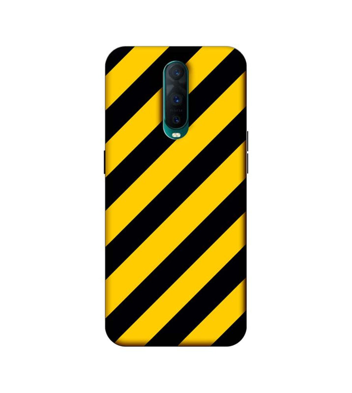 Oppo R17 Pro Mobile Cover Printed Designer Case Yellow and Black Stripes