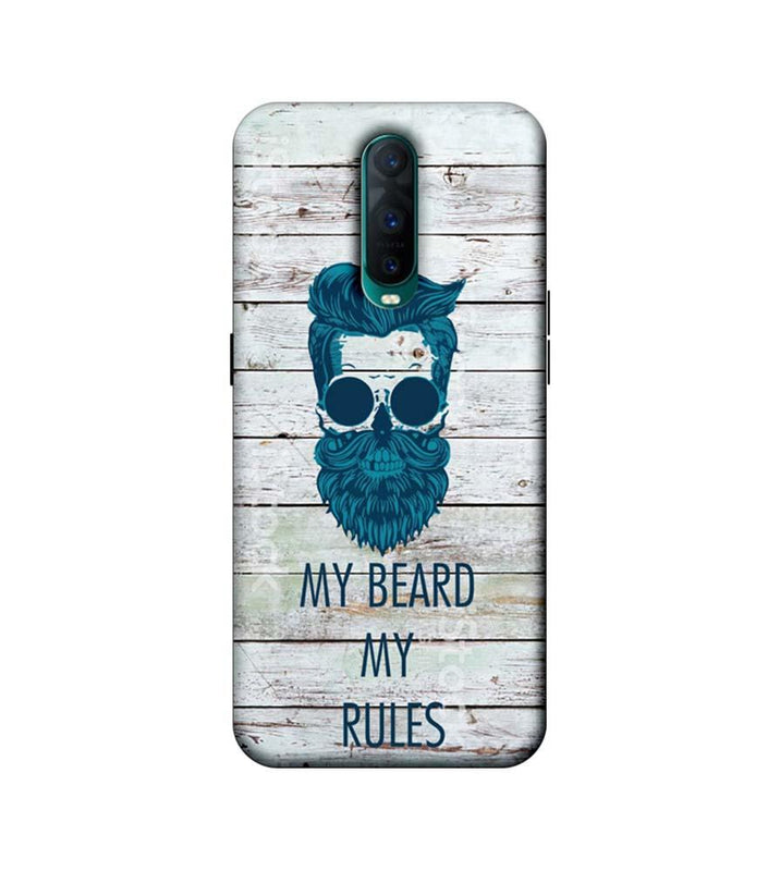 Oppo R17 Pro Mobile Cover Printed Designer Case My Beard My Rule