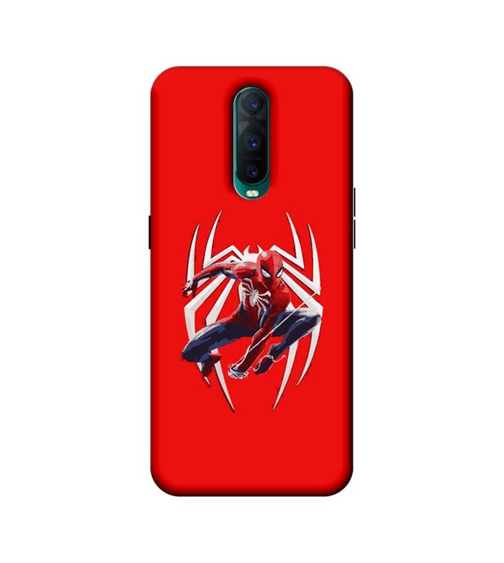 Oppo R17 Pro Mobile Cover Printed Designer Case Spiderman with Logo