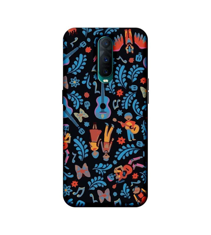 Oppo R17 Pro Mobile Cover Printed Designer Case Guitar Pattern
