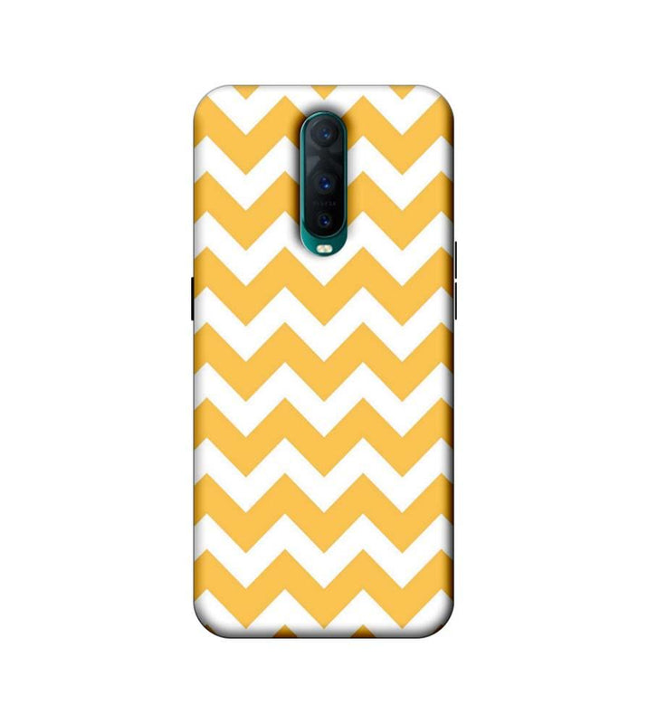 Oppo R17 Pro Mobile Cover Printed Designer Case Yellow Zigzag