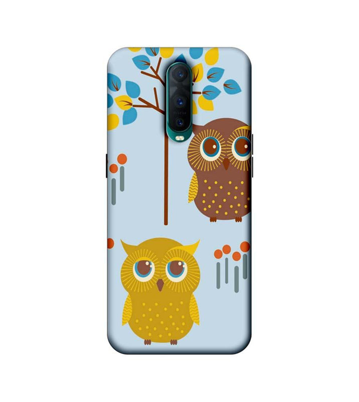 Oppo R17 Pro Mobile Cover Printed Designer Case Indian Art Owls