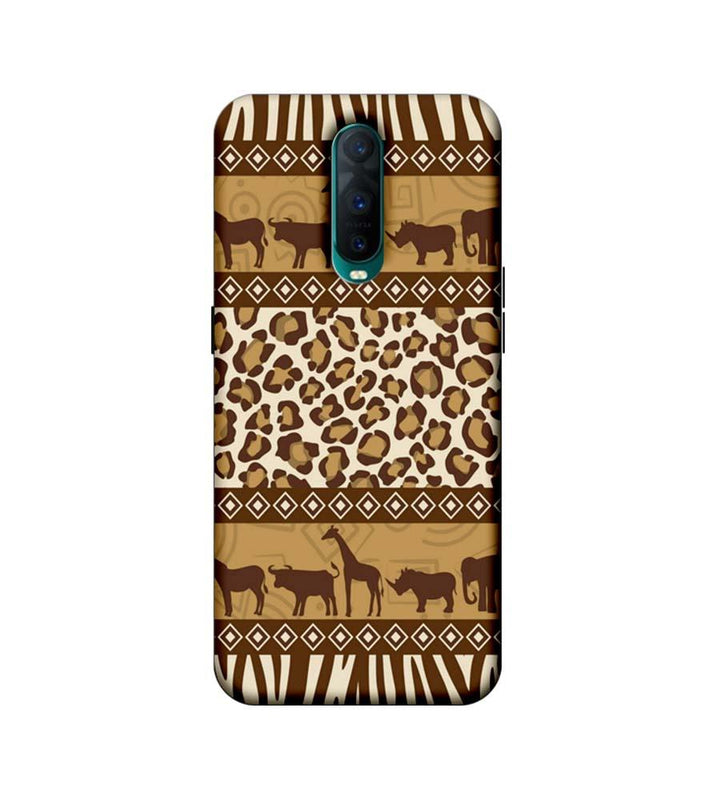 Oppo R17 Pro Mobile Cover Printed Designer Case Indian Art Animals
