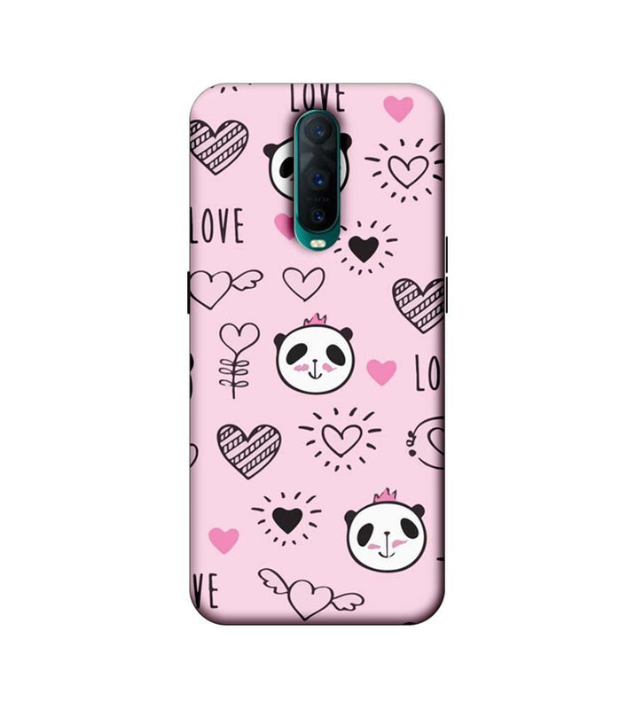 Oppo R17 Pro Mobile Cover Printed Designer Case I Love Panda