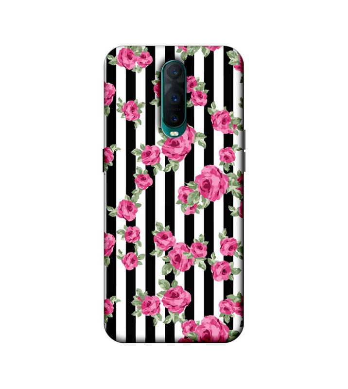 Oppo R17 Pro Mobile Cover Printed Designer Case Floral Stripe Pattern