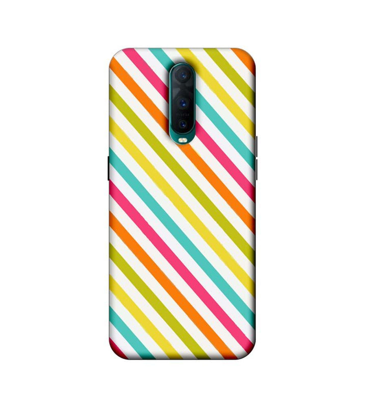 Oppo R17 Pro Mobile Cover Printed Designer Case Stripes Pattern Two