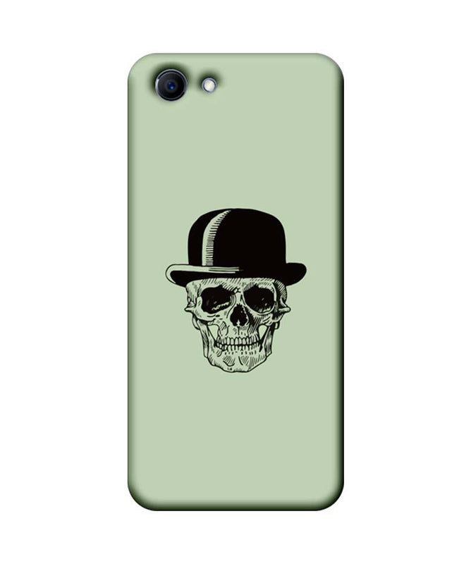 Oppo Real Me 1 Mobile Cover Printed Designer Case Skull head with Hat