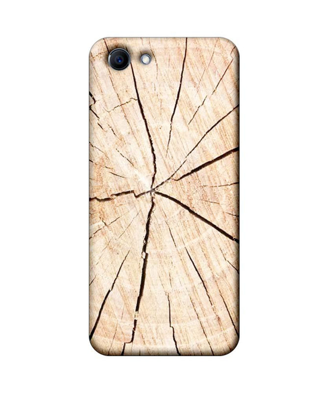 Oppo Real Me 1 Mobile Cover Printed Designer Case Crack Wood