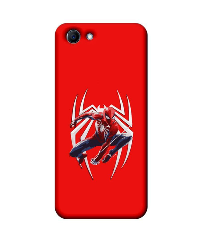 Oppo Real Me 1 Mobile Cover Printed Designer Case Spiderman with Logo