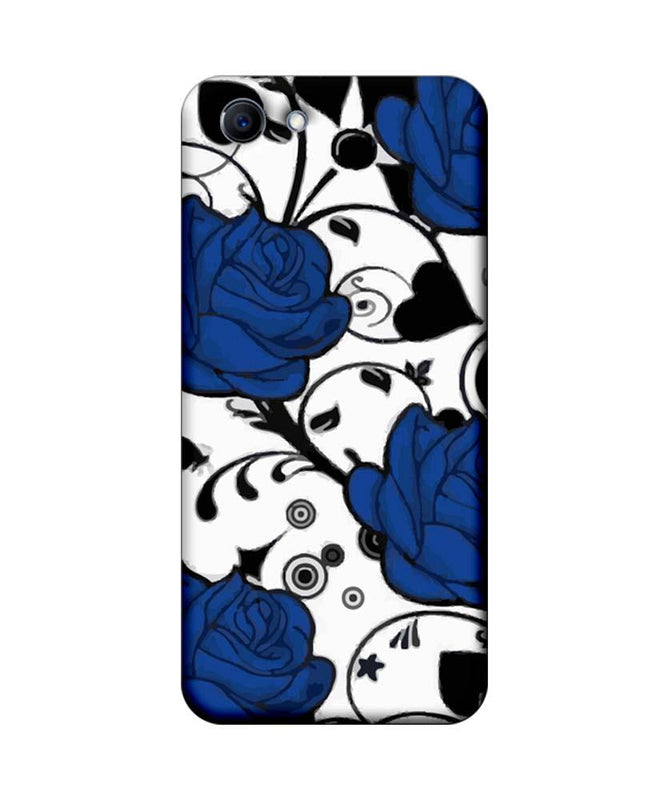 Oppo Real Me 1 Mobile Cover Printed Designer Case Blue Rose Floral
