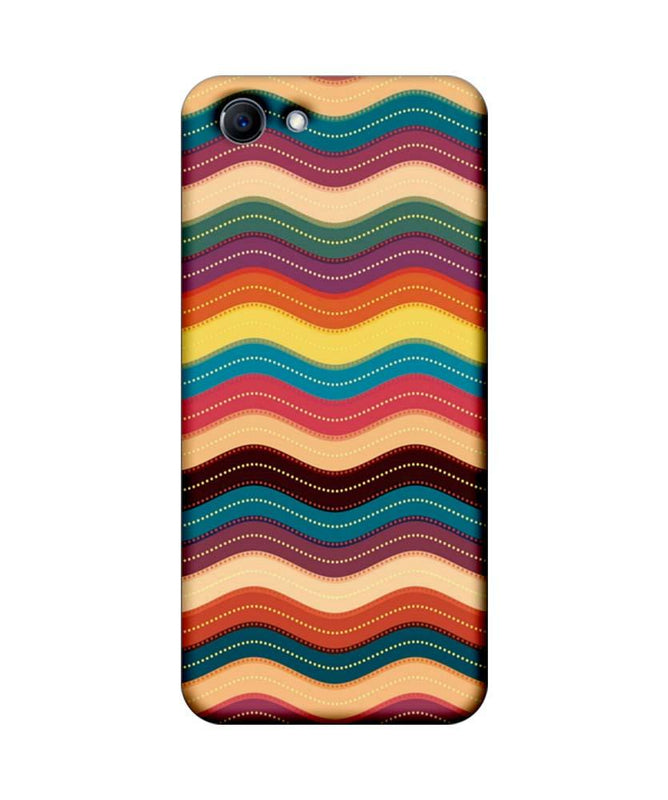 Oppo Real Me 1 Mobile Cover Printed Designer Case Multi Colour Waves