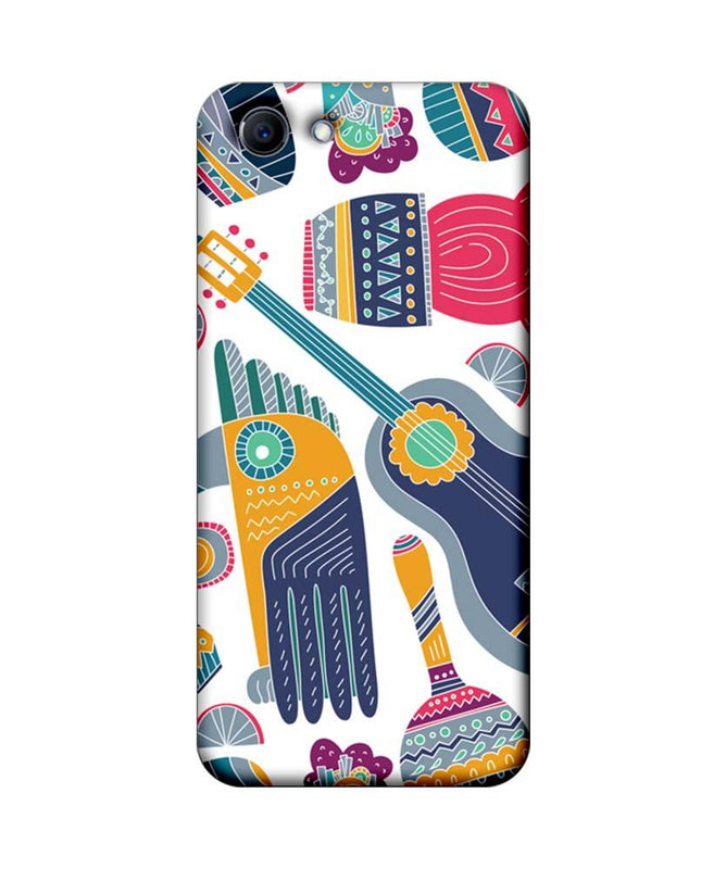 Oppo Real Me 1 Mobile Cover Printed Designer Case Guitar Pattern 2.0