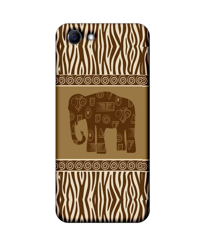 Oppo Real Me 1 Mobile Cover Printed Designer Case Indian Art Elephant