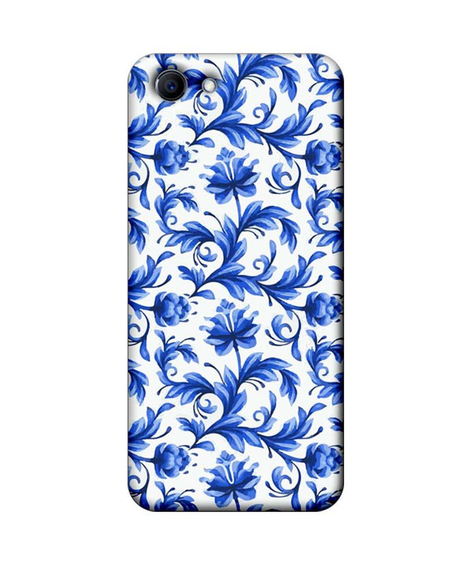 Oppo Real Me 1 Mobile Cover Printed Designer Case Blue Floral 2