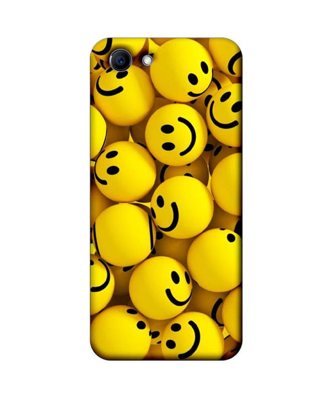 Oppo Real Me 1 Mobile Cover Printed Designer Case Yellow Emoji