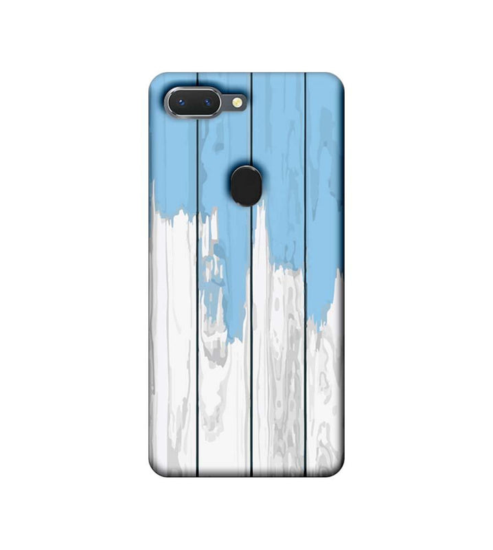 Oppo Realme 2 Mobile Cover Printed Designer Case White and Skyblue Wood