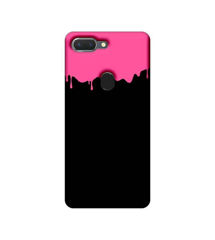Oppo Realme 2 Mobile Cover Printed Designer Case Black and Pink Brush Stroke