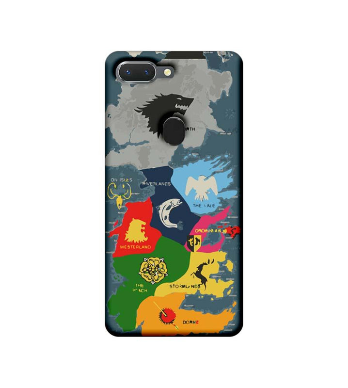 Oppo Realme 2 Mobile Cover Printed Designer Case Game of Throne Map