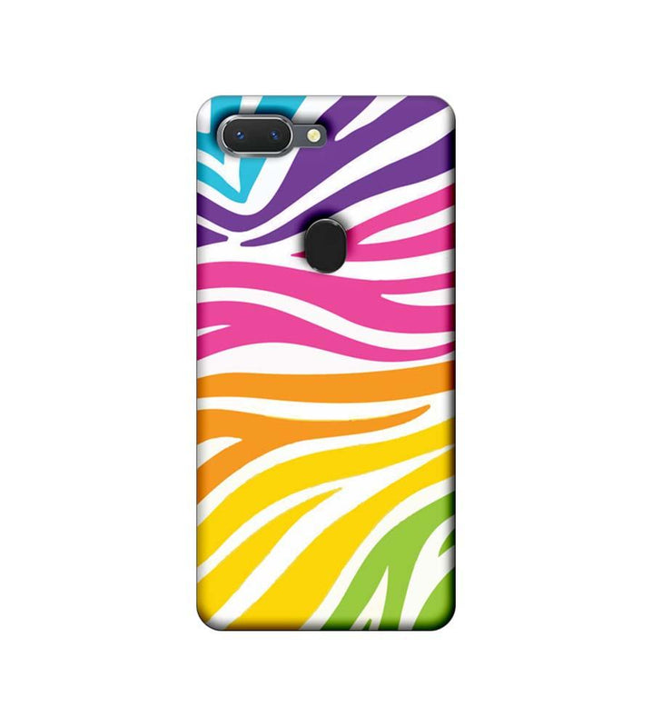 Oppo Realme 2 Mobile Cover Printed Designer Case Multicolour Zebre Pattern