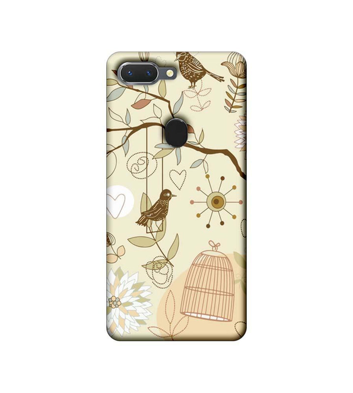 Oppo Realme 2 Mobile Cover Printed Designer Case Bird illustrator