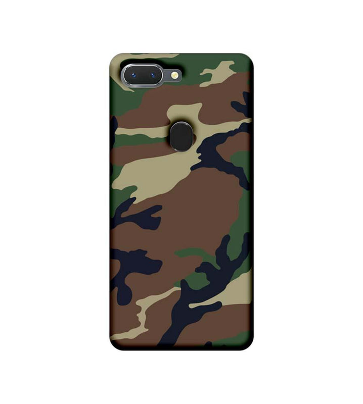 Oppo Realme 2 Mobile Cover Printed Designer Case Military Pattern One