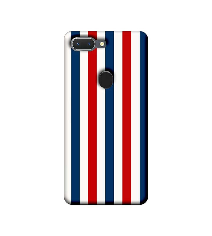 Oppo Realme 2 Mobile Cover Printed Designer Case Blue and Red Stripes