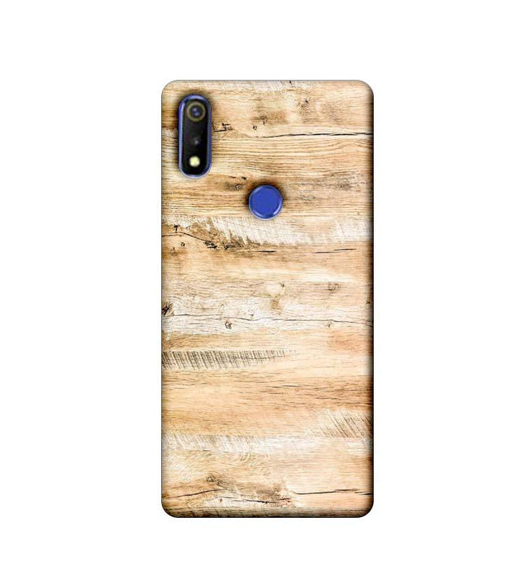 Oppo Realme 3 Mobile Cover Printed Designer Case Light Brown Wood