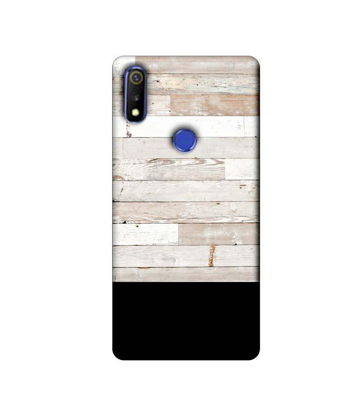 Oppo Realme 3 Mobile Cover Printed Designer Case Black and White Wood