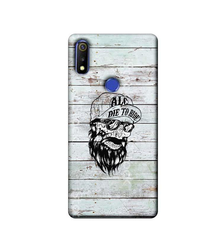 Oppo Realme 3 Mobile Cover Printed Designer Case Beard Skeleton