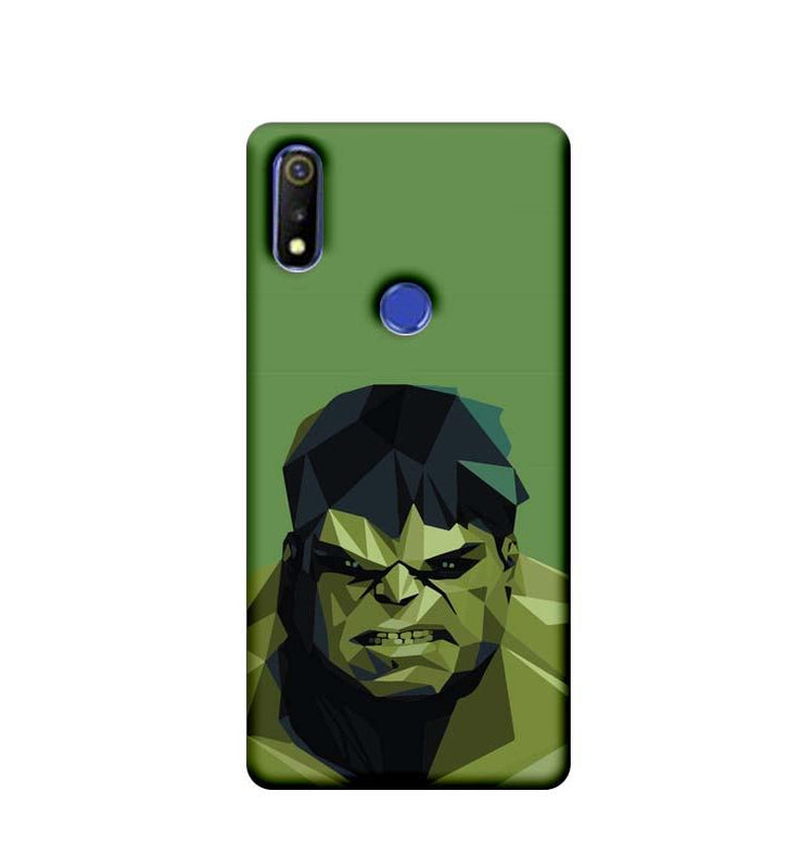 Oppo Realme 3 Mobile Cover Printed Designer Case Angry Hulk