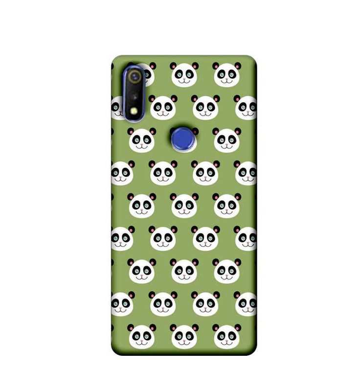 Oppo Realme 3 Mobile Cover Printed Designer Case Multiple Pandas