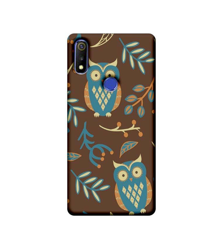 Oppo Realme 3 Mobile Cover Printed Designer Case Indian Art Owl