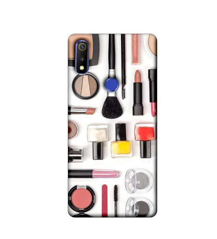 Oppo Realme 3 Mobile Cover Printed Designer Case Makeup Kit
