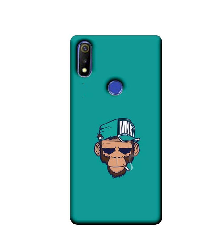 Oppo Realme 3 Mobile Cover Printed Designer Case Smoking Monkey