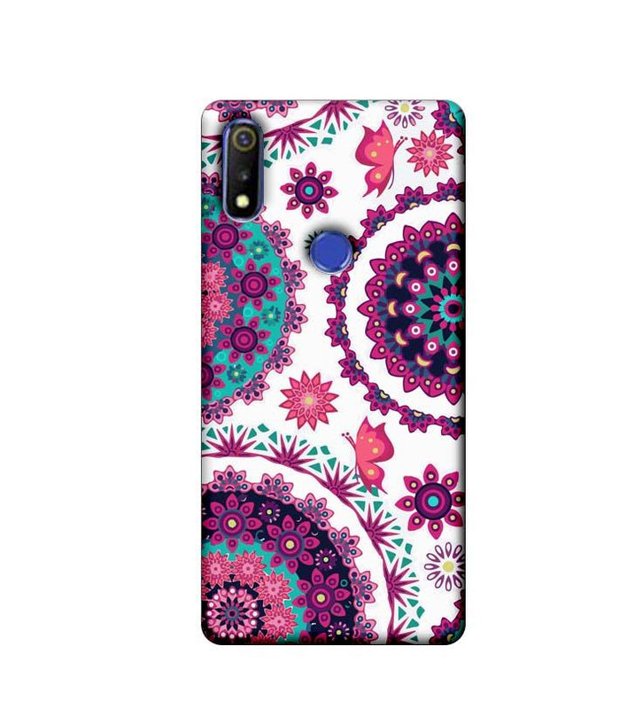 Oppo Realme 3 Mobile Cover Printed Designer Case Circle Pattern