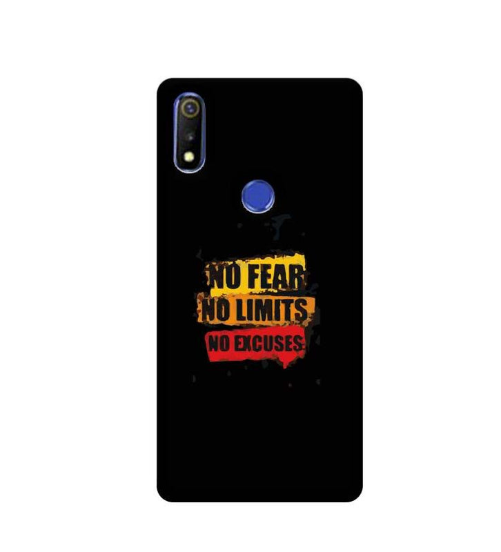 Oppo Realme 3 Mobile Cover Printed Designer Case No Fear No Limits