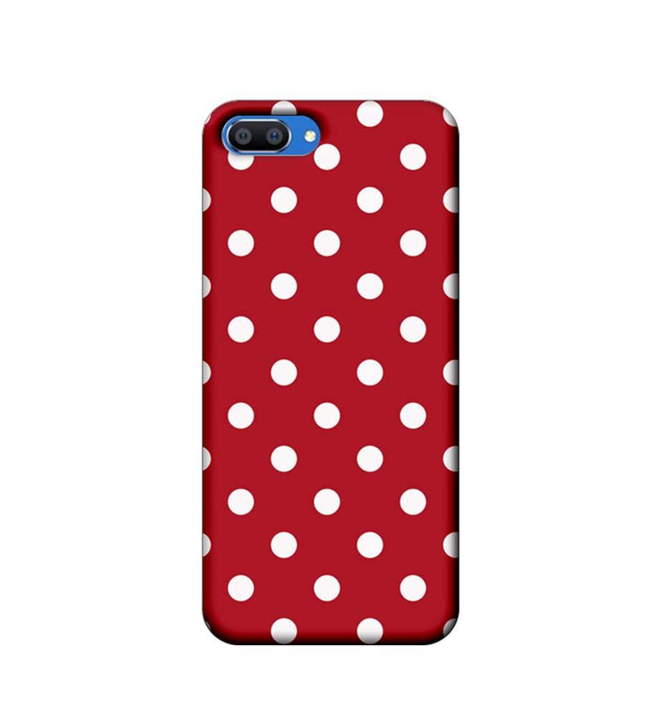Oppo Realme C1 Mobile Cover Printed Designer Case Marron Polka Dots