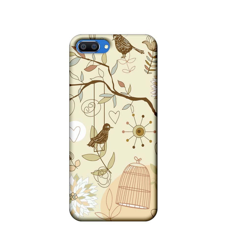 Oppo Realme C1 Mobile Cover Printed Designer Case Bird illustrator