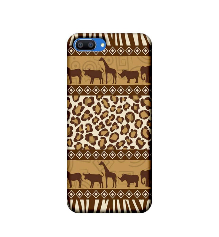 Oppo Realme C1 Mobile Cover Printed Designer Case Indian Art Animals