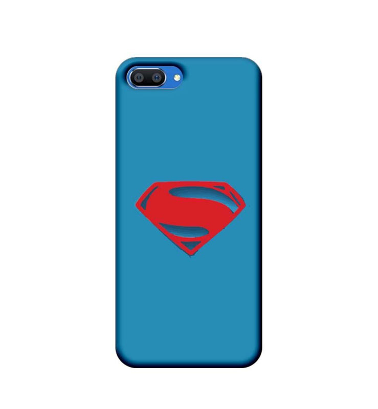 Oppo Realme C1 Mobile Cover Printed Designer Case Superman Logo 2.0